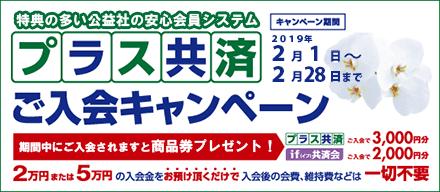プラス共済ご入会キャンペーン